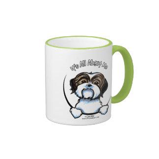 Shih Tzu Its All About Me Ringer Mug