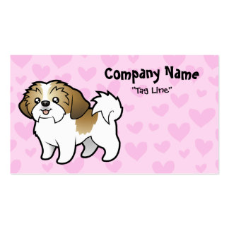 Shih Tzu Love (puppy cut) Double-Sided Standard Business Cards (Pack Of 100)
