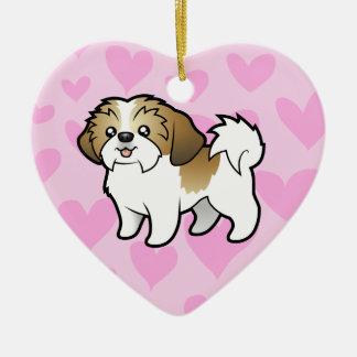 Shih Tzu Love (puppy cut) Christmas Ornament