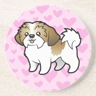 Shih Tzu Love (puppy cut) Coaster