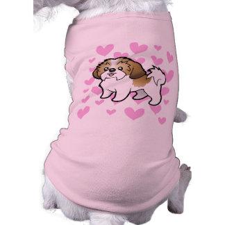 Shih Tzu Love (puppy cut) Sleeveless Dog Shirt