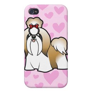 Shih Tzu Love (show cut) (add your own pern) iPhone 4/4S Cover