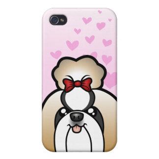 Shih Tzu Love (show cut) Cases For iPhone 4