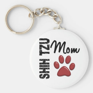 Shih Tzu Mom 2 Key Ring