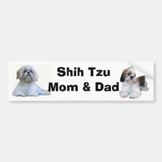 Shih Tzu Mom & Dad Bumper Sticker