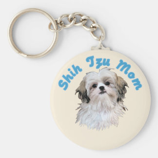 Shih Tzu Mom Key Ring