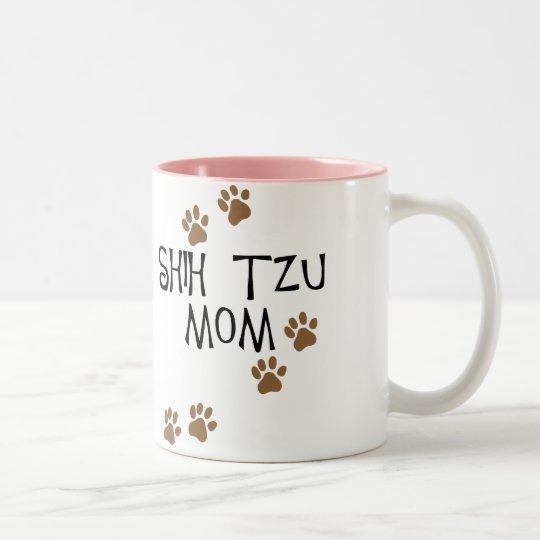 Shih Tzu Mum Two-Tone Coffee Mug