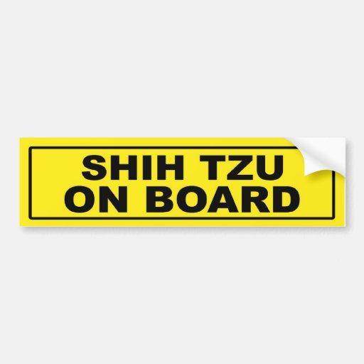 Shih Tzu on Board Bumper Sticker