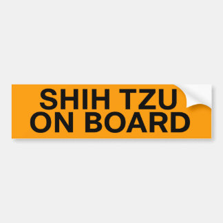 Shih Tzu on Board Custom Bumper Stickers