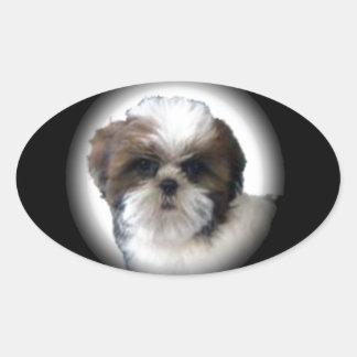 Shih-Tzu Oval Sticker