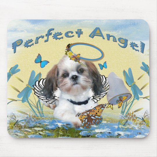 Shih Tzu Perfect Angel Butterfly Catcher cards Mouse Mat