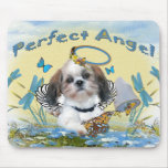 Shih Tzu Perfect Angel Butterfly Catcher cards Mousemats