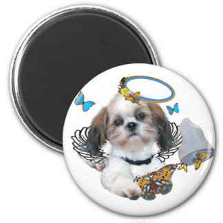 Shih Tzu Perfect Angel Butterfly Catcher gifts Magnets