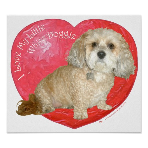 Shih Tzu / Poodle Mix Valentines Day Print