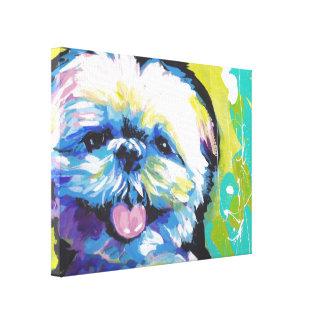 Shih Tzu Pop Art on Stretched Canvas