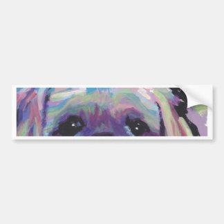 shih tzu pop dog art bumper stickers
