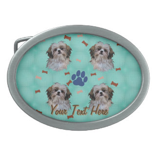 Shih Tzu Portrait Belt Buckles