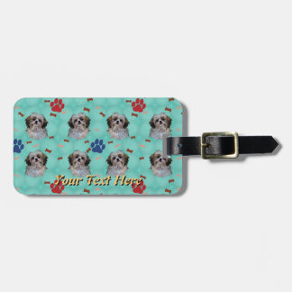 Shih Tzu Portrait Luggage Tag