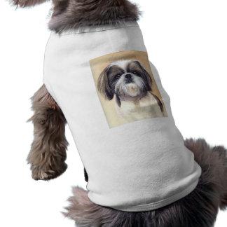 Shih Tzu Portrait Painted in Watercolour Sleeveless Dog Shirt
