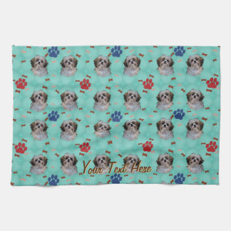 Shih Tzu Portrait Tea Towel