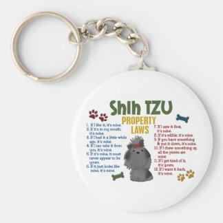 Shih Tzu Property Laws 4 Basic Round Button Key Ring