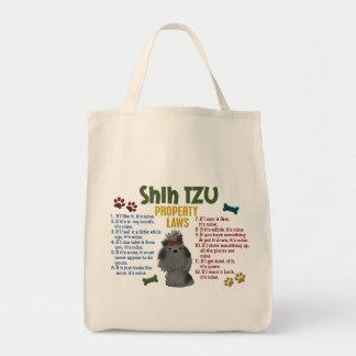 Shih Tzu Property Laws 4 Grocery Tote Bag