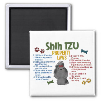 Shih Tzu Property Laws 4 Square Magnet