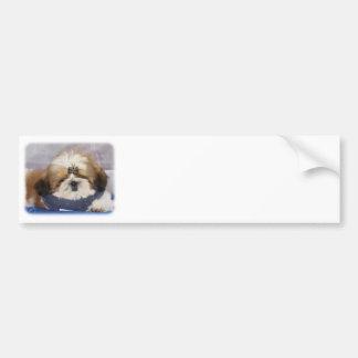Shih Tzu puppy 9Y506D-041 Bumper Sticker