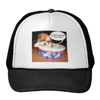 Shih Tzu Puppy Trucker Hat