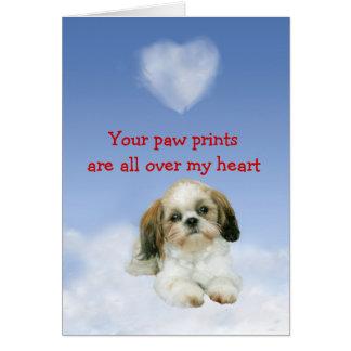 Shih Tzu Puppy Love Card