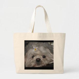 Shih Tzu Puppy Purse Large Tote Bag