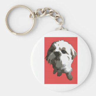 Shih Tzu (red) Key Ring