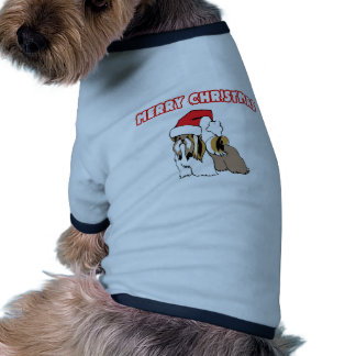 Shih Tzu Santa-Merry Christmas Dog T Shirt