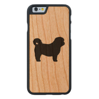 Shih Tzu Silhouette Carved Cherry iPhone 6 Case
