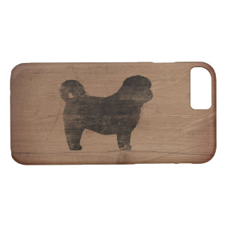 Shih Tzu Silhouette Rustic iPhone 8/7 Case