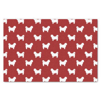 Shih Tzu Silhouettes Pattern Red Tissue Paper
