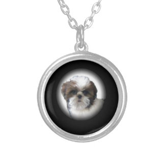 Shih-Tzu Silver Plated Necklace