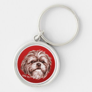 Shih Tzu Sketch Key Ring