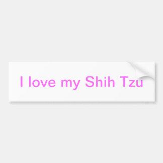 Shih Tzu Sticker Pink Stickers Man's Best Friend Bumper Sticker
