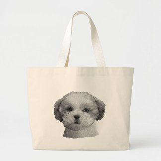Shih Tzu - Stylized Image - Add Your Qwn Text Large Tote Bag