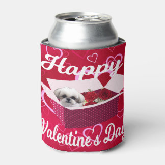 Shih tzu Valentine's Day Can Cooler, Cute Dog Can Cooler
