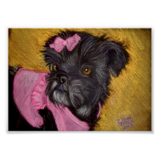 Shih-tzu with Pink Bow Poster