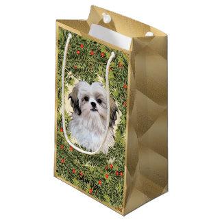 Shih Tzu Wreath Small Gift Bag