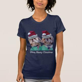 Shih Tzues Shih Two Christmas Grandmas T-Shirt