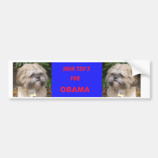 Shih Tzu's for Obama Bumper Sticker