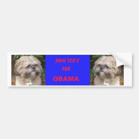 Shih Tzu's for Obama Bumper Sticker