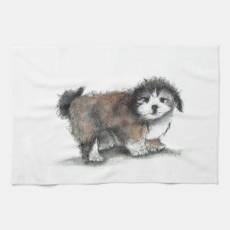 Shihtzu Puppy Dog, Pet Hand Towel
