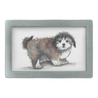 Shihtzu Puppy Dog, Pet Rectangular Belt Buckle