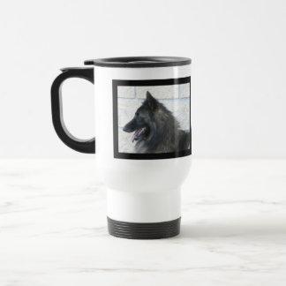 Shiloh Shepherd Profile Plastic Travel Mug