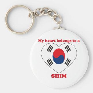 Shim Basic Round Button Key Ring